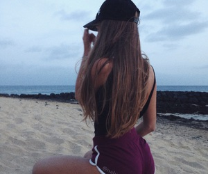 beach, booty, and girls image