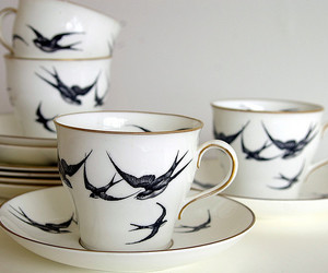 cup, bird, and swallow image