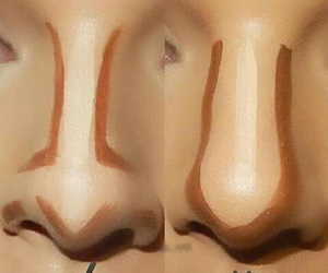 makeup, nose, and contour image