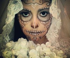 halloween costume and dia de muertos image