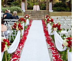 red and wedding venue image