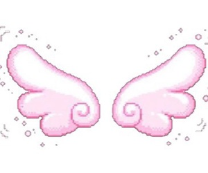 kawaii, pixel, and wings image