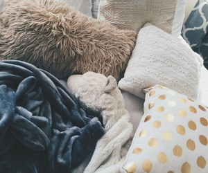 pillow, bed, and cozy image