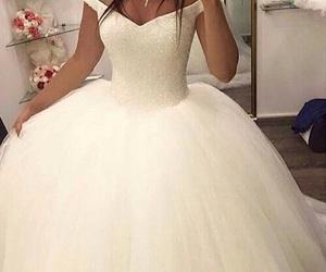 bride, dress, and wedding image