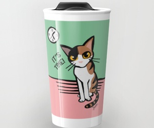 cat, kawaii, and mug image