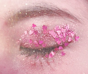 cosmetics, eye, and glitter image