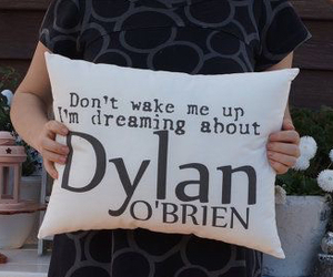 dylan o'brien, dylan o'brien teen wolf, and pillow case covers image