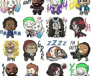 harley quinn, jared leto, and will smith image