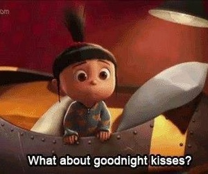 kiss, goodnight, and despicable me image