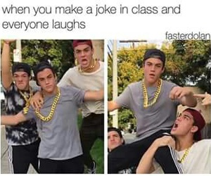 funny, dolan twins, and class image