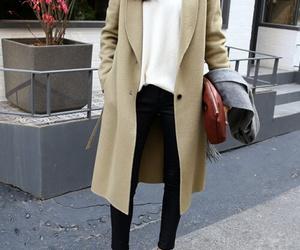 coat, girl, and fashion image