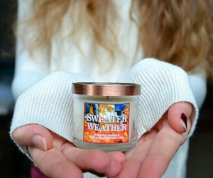 candle, autumn, and sweater weather image