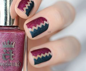 glitter, manicure, and nails image