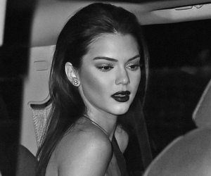 black&white, Kendall, and Hot image