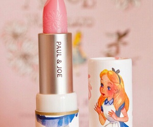 lipstick, pink, and alice in wonderland image