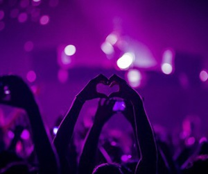 love, purple, and heart image