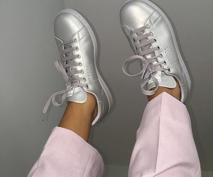 silver, adidas, and pink image