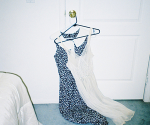 clothes, door, and hanging image