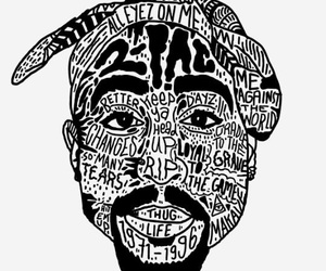 2pac, tupac, and art image