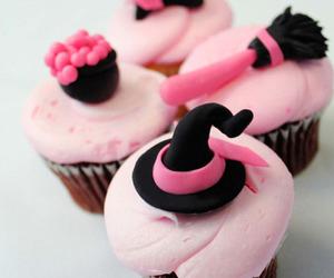 pink, cupcake, and Halloween image