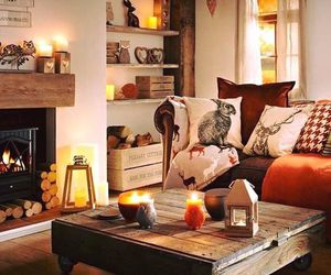 autumn, decor, and candles image
