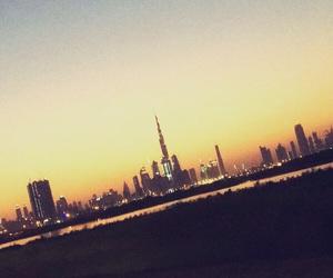 city, desert, and Dubai image