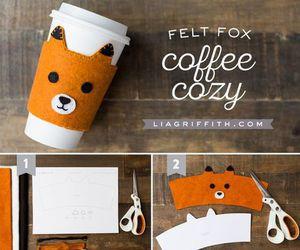 coffee, diy, and fox image