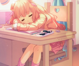 anime, background, and illustration image
