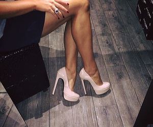 heels, shoes, and legs image