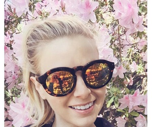 blonde, pink, and floral image