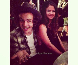Harry Styles, harlena, and selena gomez image