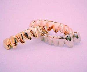 pink, gold, and grill image