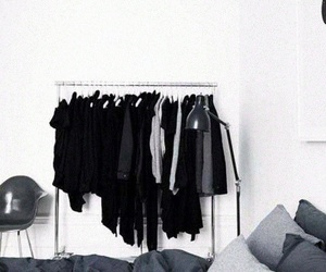 black, room, and clothes image