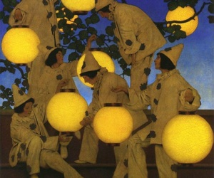 1910, maxfield parrish, and the lantern bearers image