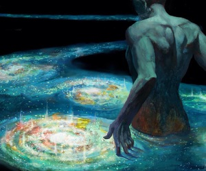 art, universe, and galaxy image