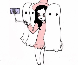 ghost, selfie, and valfre image