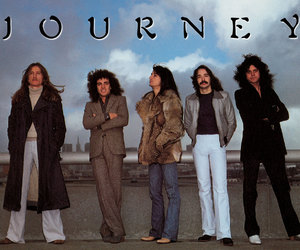 journey, don't stop believin', and steve perry image