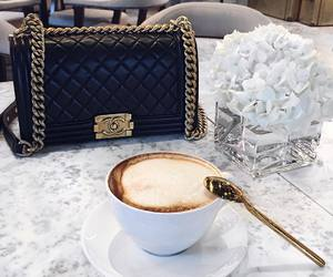 coffee, chanel, and bag image