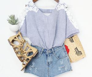 blouse, short, and fashion image