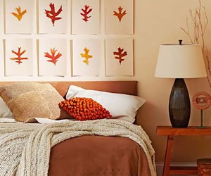 fall and bedroom image