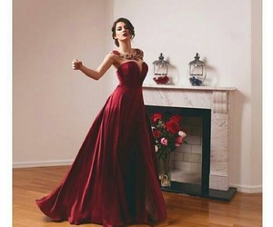 dress, red, and elegant image