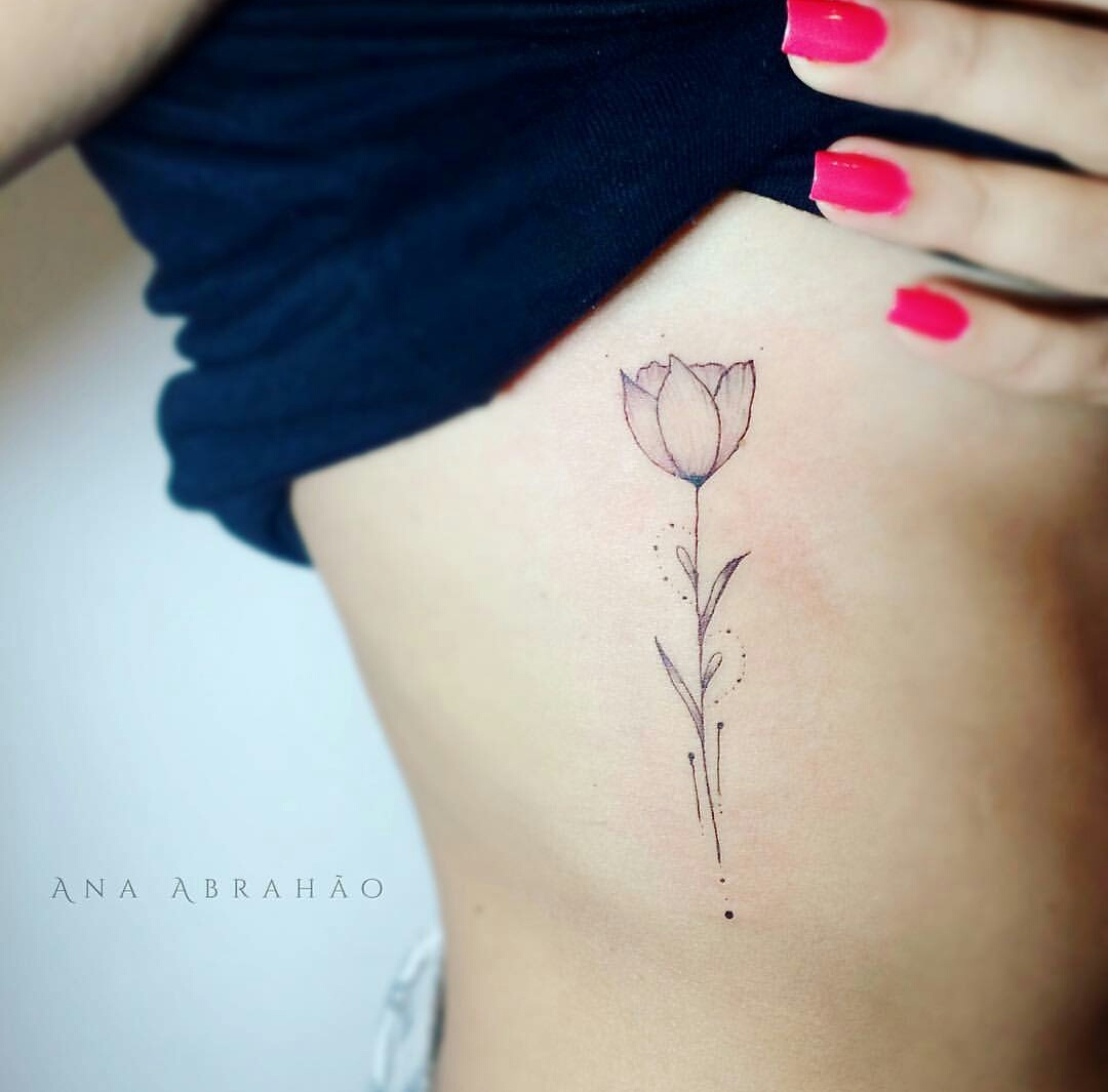 flores, flowers, and tattoo image