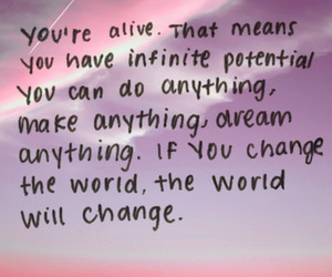 quote, alive, and Dream image