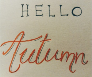 autumn, calligraphy, and fall image