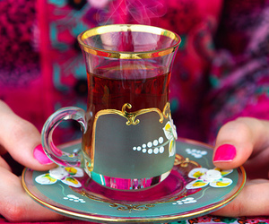 tea and pink image