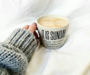 coffee, Sunday, and sweater image