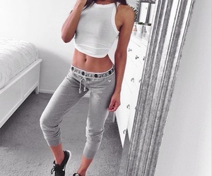 girl, fitness, and outfit image