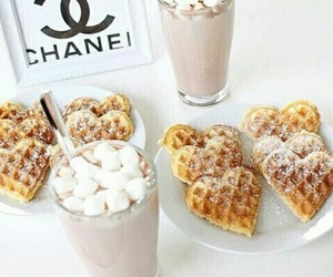 breakfast, milkshake, and chanel image