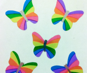butterflies, colorful, and lisa frank image
