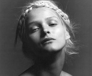 model, hair, and braid image